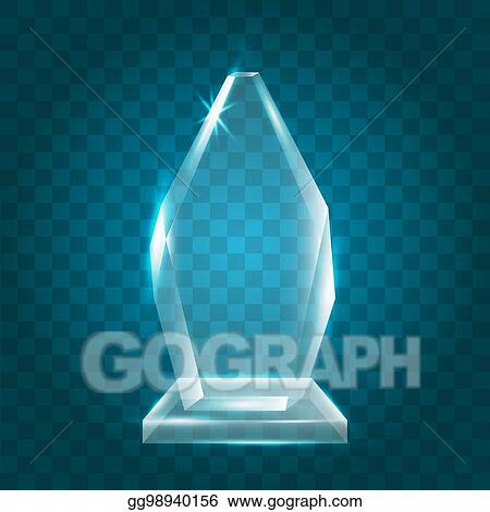 Vector Illustration - Transparent shining blank vector