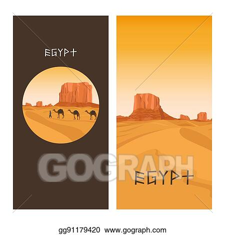 vector stock travel flyers design with egypt desert stock clip