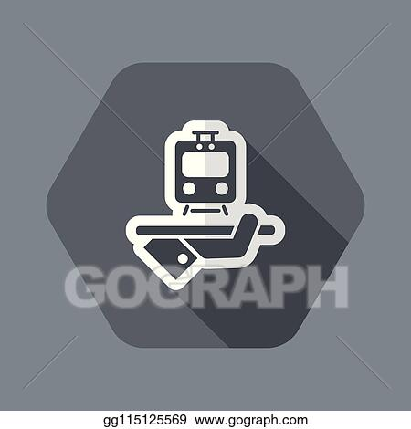 Black Train Ticket Icon Isolated On Stock Vector (Royalty Free) 1501588118