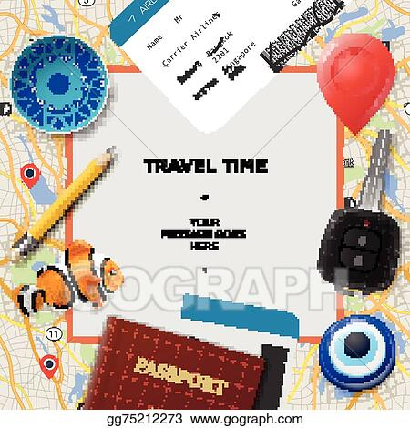Vector Art - Travel time template  Clipart Drawing