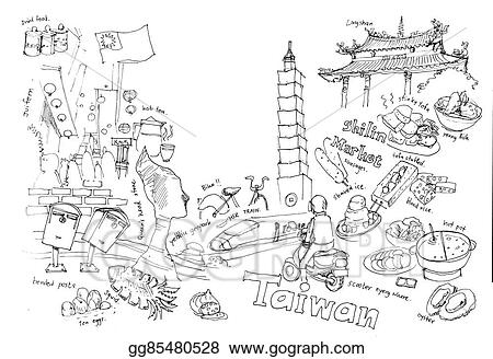drawings travel to taiwan illustration drawing landmarks and fun