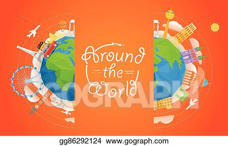 vector stock travel vector illustration around the world concept