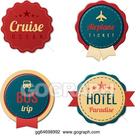 Vector Art - Travel vintage labels template collection