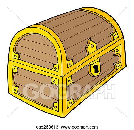 clip art treasure chest stock illustration gg5263613 gograph rh gograph com treasure chest clipart pics treasure chest clipart images