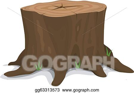 vector art tree stump clipart drawing gg63313573 gograph rh gograph com tree stump clipart png tree stump clipart free