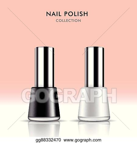 vector illustration trendy nail polish package set eps clipart