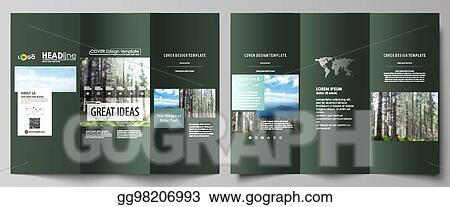 Vector Stock Tri Fold Brochure Templates On Both Sides