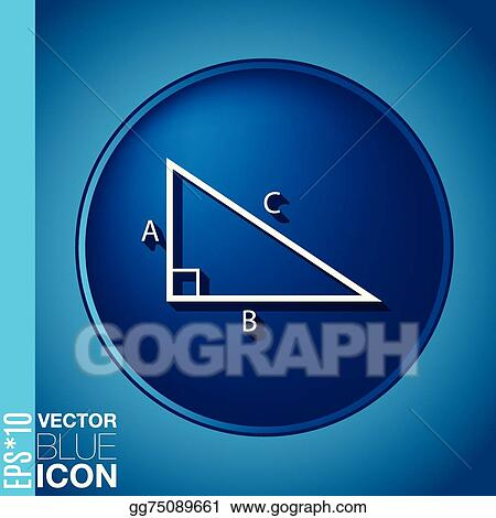 Vector Illustration Triangle Math Symbol Icon Geometry Learning