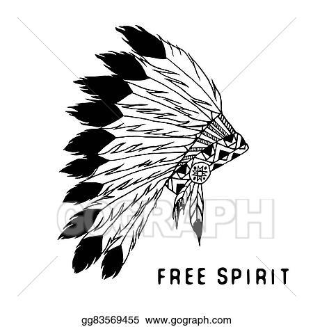 Native American Spiritual Clipart Clipart Vector Design