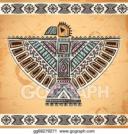Eps Vector Tribal Native American Eagle Symbols Stock Clipart