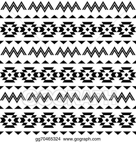 Vector Illustration Tribal Pattern Aztec Background EPS Clipart Cool Aztec Tribal Pattern