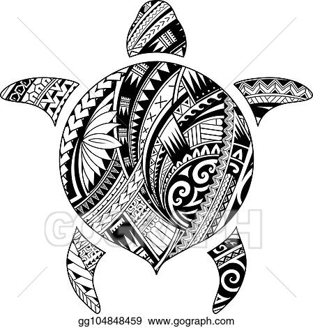 487fcd7d7 Vector Stock - Tribal tattoo for aboriginal turtle shape. Clipart ...