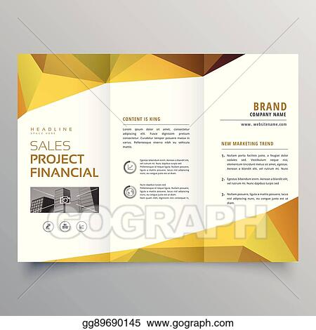 clip art vector trifold brochure design with abstract geometric