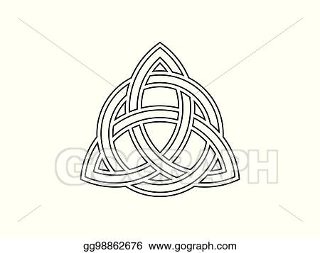 Vector Illustration Triquetra Trinity Knot Celtic Symbol Of