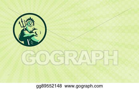 Stock Illustration - Triton logistics business card  Clipart