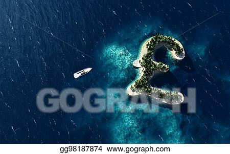 Stock Illustration Tropical Island In The Form Of The British