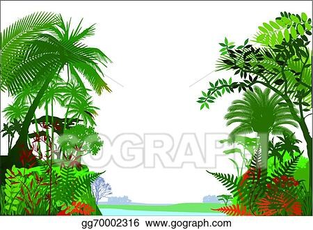 vector art tropical rainforest jungle clipart drawing gg70002316 rh gograph com Tropical Rainforest Clip Art Black and White Tropical Rainforest Clip Art Black and White