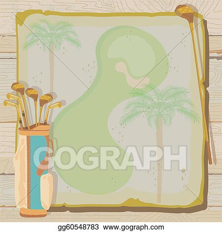Clip art vector tropical vintage golf invitation stock eps tropical vintage golf invitation stopboris Choice Image