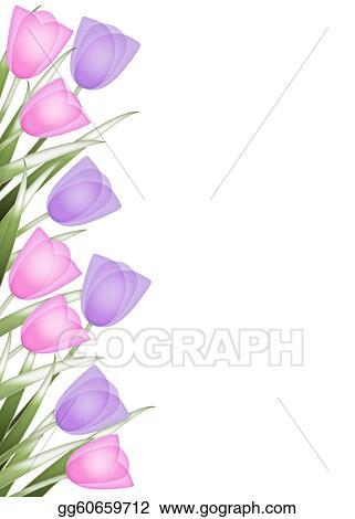 Stock Illustrations - Tulip border. Stock Clipart ... Tulips Border Clipart