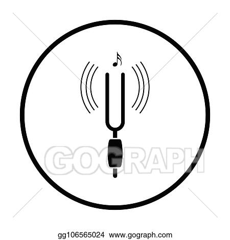 Vector Stock - Tuning fork. Clipart Illustration gg91305756 - GoGraph
