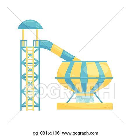 Water Park Slide Cartoon Royalty Free Gograph