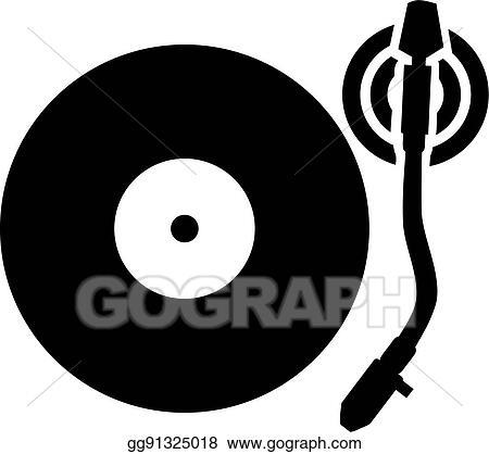 vector stock turntable vinyl record player clipart illustration rh gograph com DJ Clip Art DJ Turntables Graffiti Art