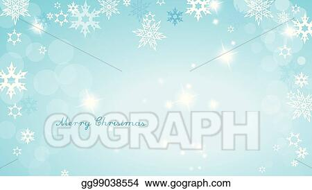 turquoise christmas background with snowflakes and simple merry christmas text wide angle version