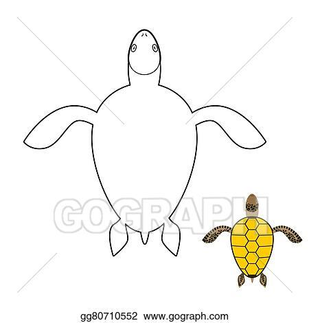 Vector Art - Turtle coloring book. marine reptiles. vector ...