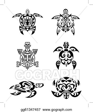 Vector Stock Turtle Tattoo Clipart Illustration Gg61347457 Gograph