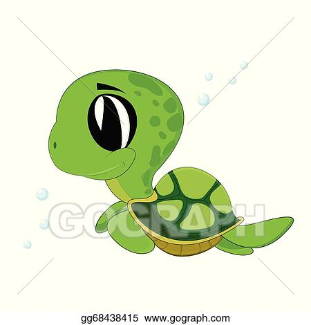 Vector Illustration Turtle Stock Clip Art Gg68438415 Gograph