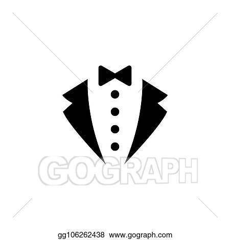 Vector Stock , Tuxedo suit icon. Stock Clip Art gg106262438