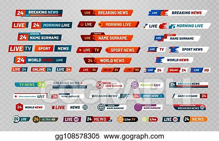 Vector Stock - Tv broadcast title  television broadcasting