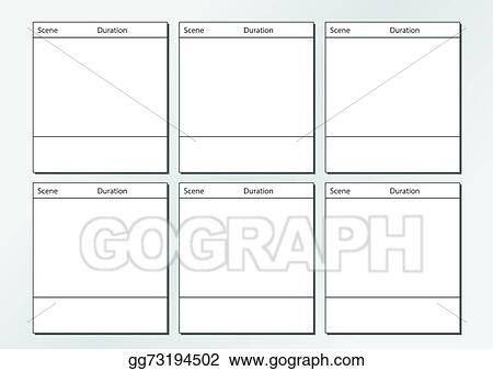 vector illustration tv commercial storyboard template x6 stock