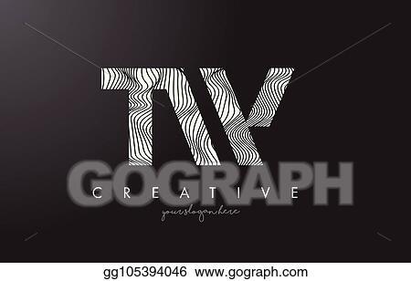 Vector Clipart Tw T W Letter Logo With Zebra Lines Texture Design