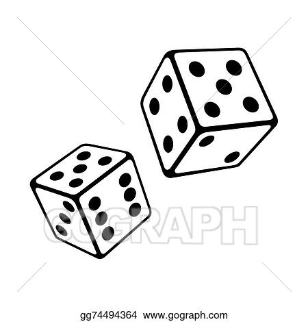 vector art two dice cubes on white background vector clipart rh gograph com dice vector 3d dice vector 3d