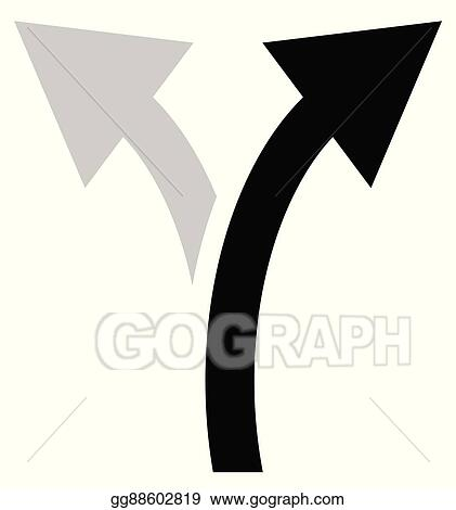 Vector Art Two Way Arrow Symbol Arrow Icon Curved Arrows Left