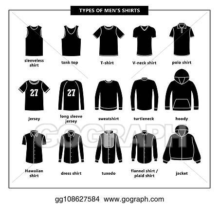 9604968ebfc6d EPS Vector - Types of men s shirts. Stock Clipart Illustration ...