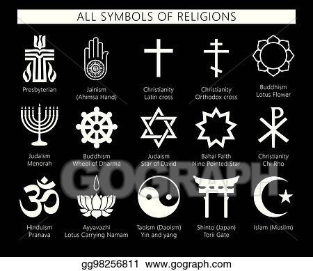 Vector Stock Types Of Religion In The Blackeps Clipart