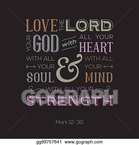 Vector Stock - Typography of bible quote for print or use as