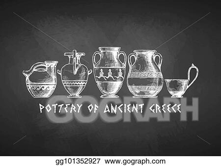 Vector Stock Typology Of Greek Vase Shapes Stock Clip Art Gg101352927 Gograph