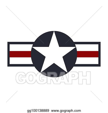 Clip Art Vector - U  s  army air force sign logo  vector
