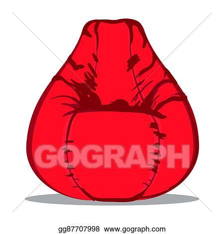 Remarkable Vector Illustration U0428Llustration Of Soft Bean Bag Creativecarmelina Interior Chair Design Creativecarmelinacom