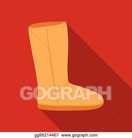 d9ea2f6a046 Vector Stock - Ugg boots icon in flat style isolated on white ...