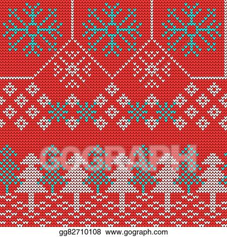 4544a05ea8dd4 Vector Stock - Vector illustration of ugly sweater seamless pattern for  design