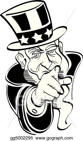 vector art uncle sam 4th of july clip art eps clipart gg5002295 rh gograph com uncle sam clip art black and white uncle sam clip arts color sheets