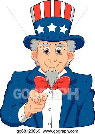 vector illustration uncle sam cartoon wants you stock clip art rh gograph com Uncle Sam Clip Art Black and White Uncle Sam Political Cartoons
