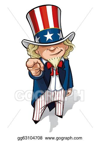 clip art uncle sam i want you stock illustration gg63104708 rh gograph com uncle sam clip art free images uncle sam clip art black and white