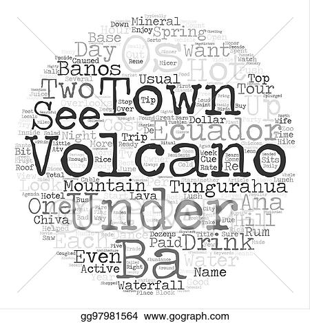 Stock Illustration Under The Volcano Word Cloud Concept