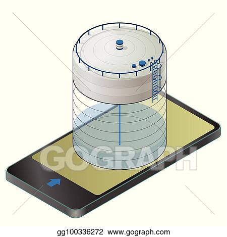 vector art underground water reservoir isometric building info