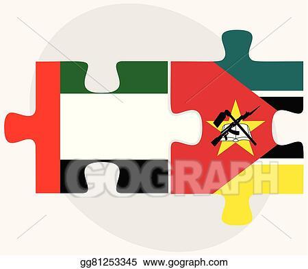 Vector Illustration - United arab emirates and mozambique